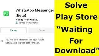 Fix Waiting For Download(Download Pending) Error In Google Play Store