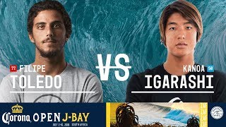 Filipe Toledo vs. Kanoa Igarashi - Semifinals, Heat 2 - Corona Open J-Bay - Men's 2018