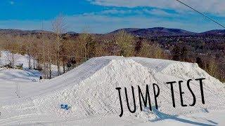 TESTING THE SAM ADAMS BIG AIR SNOWBOARD JUMP