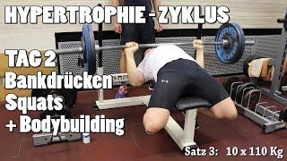 Hypertrophie-Zyklus // Tag 2: Bankdrücken - Squats