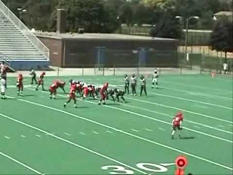 Great Play by Fenger's Defensive Line (Fenger Academy High School Football)
