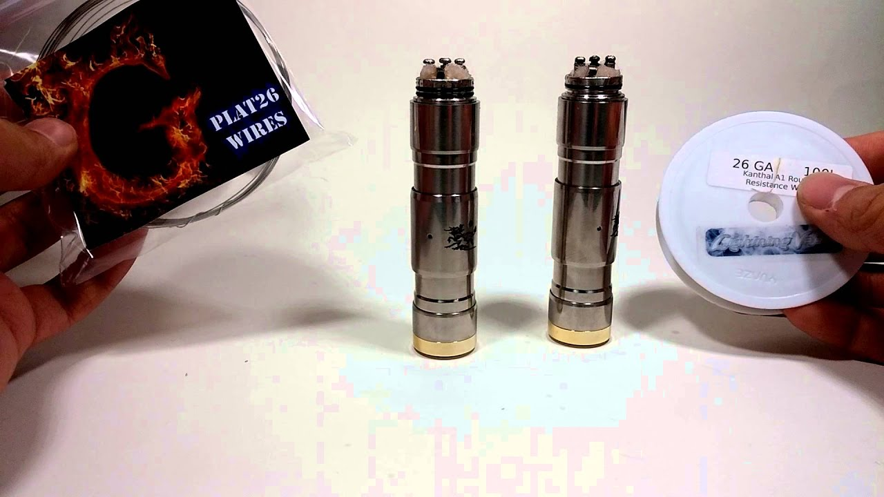 Gplat26 wire vs standard A1 Kanthal 26 gauge - YouTube