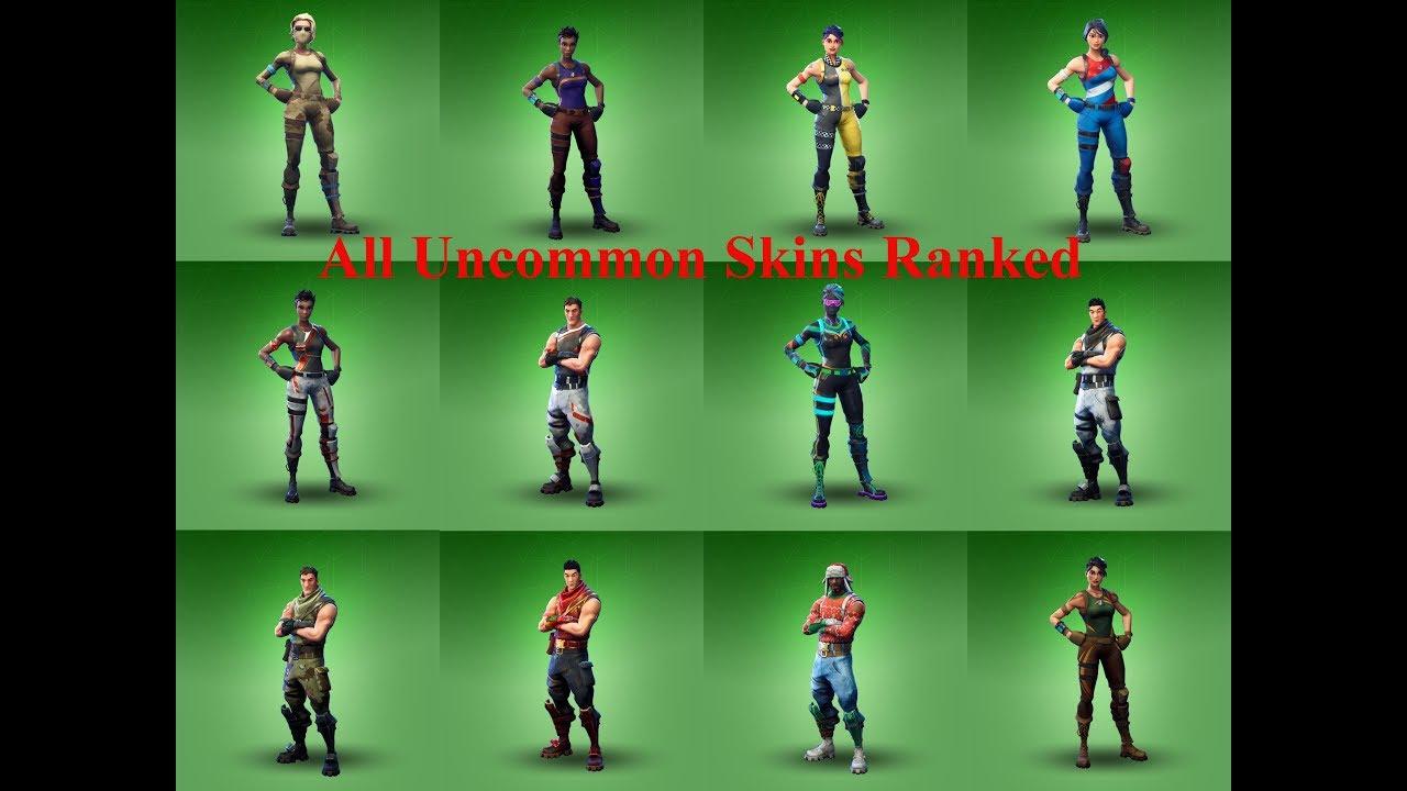 All Uncommon Skins in Fortnite Ranked (Fortnite Battle ...