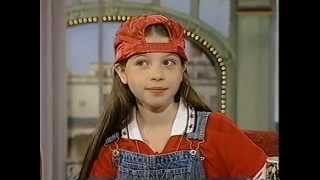 Michelle Trachtenberg 1996 interview.Age 10