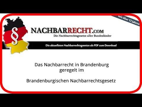 NACHBARRECHTSGESETZ BRANDENBURG EBOOK