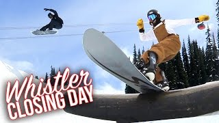 WHISTLER CLOSING DAY 2017! Snowboarding!