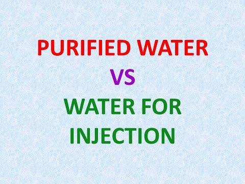 Difference between purified water and water for injection