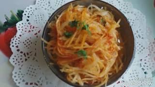 видео Картофель по - корейски Камди Ча