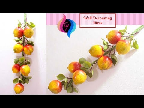 Diy dining room wall decorating ideas - Wall decorating with fruits