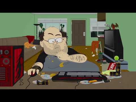 Nerd jugando a Warcraft-South park