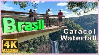 【4K】WALK Cascata do Caracol walking tour Canela Rio Grande do Sul Serra Gaucha Brasil documentary
