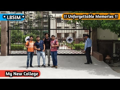 My New College *First Day* Unforgettable Memories || LBSIM Complete Campus Tour thumbnail