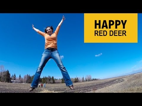 Pharrell Williams ♫ HAPPY (We are from Red Deer)