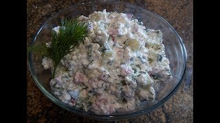 Творожный салат! Очень вкусный завтрак