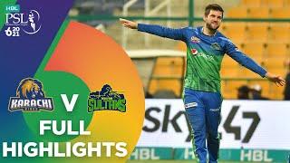 Full Highlights | Multan Sultans vs Karachi Kings | Match 16 | HBL PSL 6 | MG2T