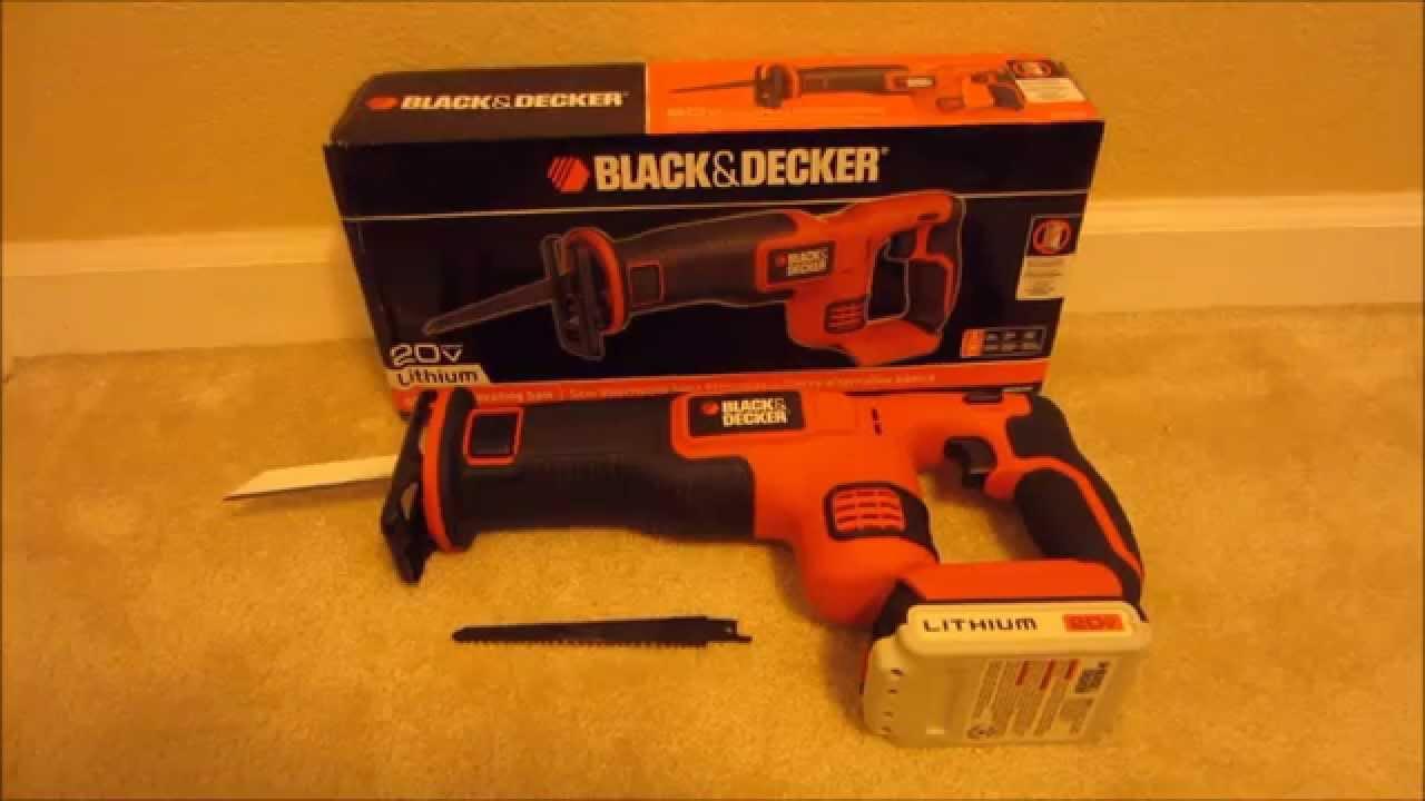 black decker 20v max lithium reciprocating saw bdcr20b youtube. Black Bedroom Furniture Sets. Home Design Ideas