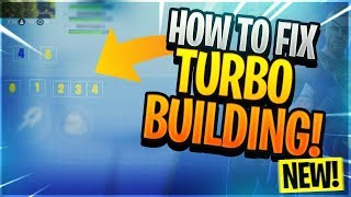 FIX turbo building fortnite Last Patch [MACRO]