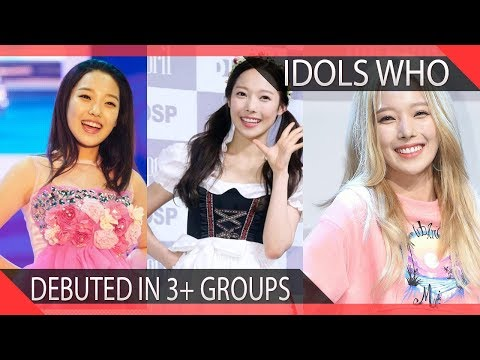 KPOP Idols Who Have Debuted in 3+ Groups