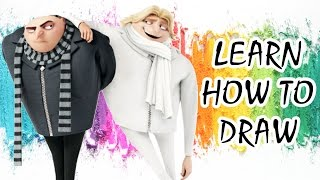 Despicable Me 3 | Learn How to Draw Gru and Dru from the animated family movie