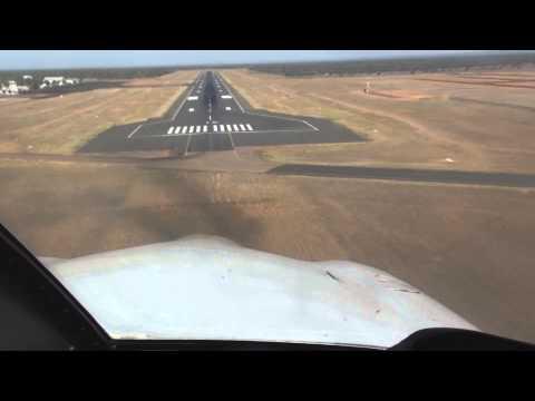 Landing Runway 12 at Alice Springs Airport (YBAS)