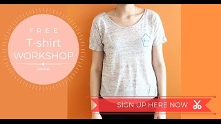 How to make your T-shirt, step by step finish T-shirt in 2 Hour less. (Pattern + worksheet included)