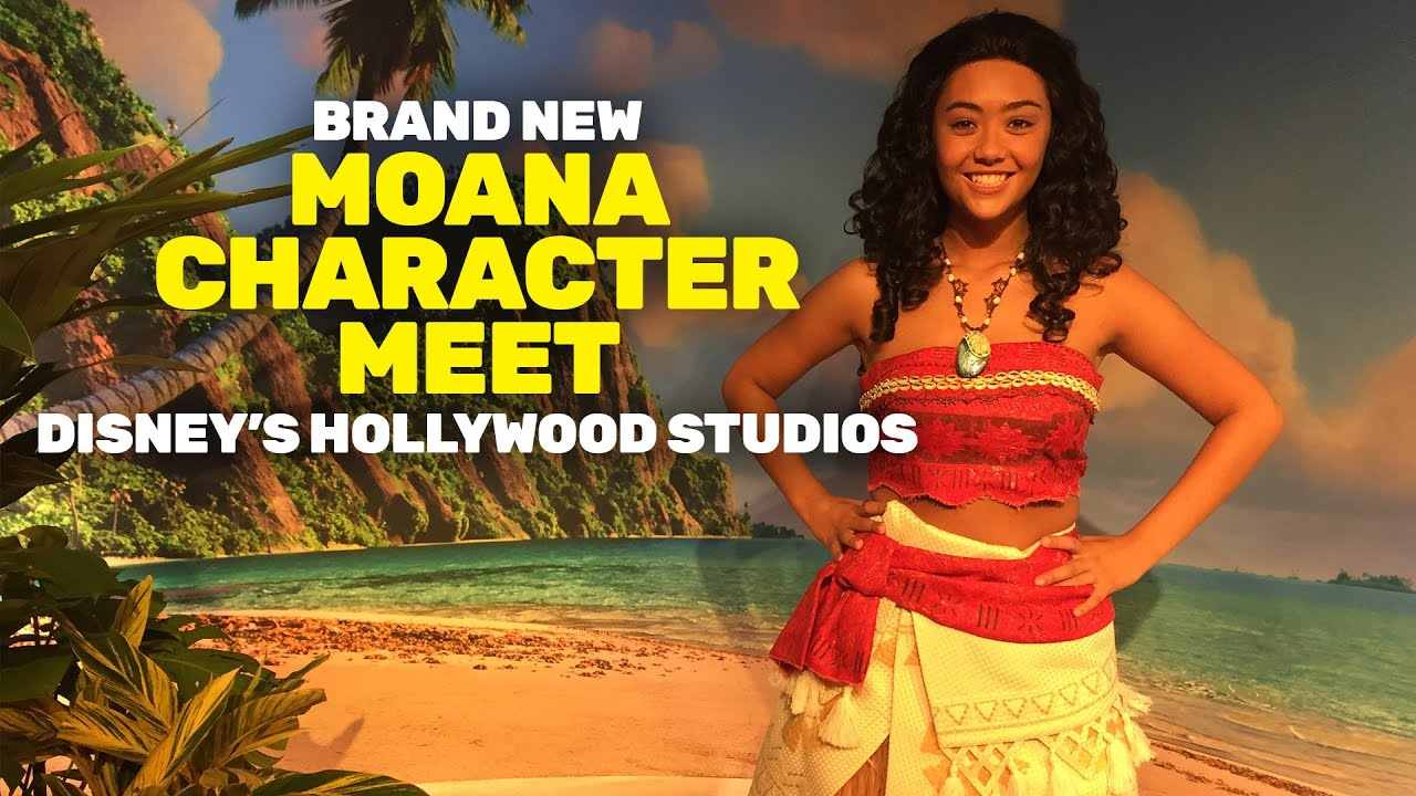 Moana Meet And Greet At Disneys Hollywood Studios Youtube