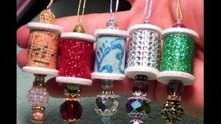 Diy~beautiful Ornate Wooden Spool Christmas Ornaments! Easy!