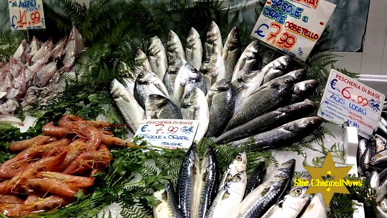 Mercato del pesce fish market and more in rome youtube for Fish and more