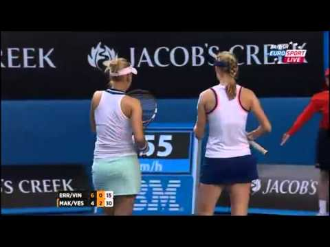 Sara Errani & Roberta Vinci Vs Ekaterina Makarova & Elena Vesnina Australian Open 2014 Women's Doubl