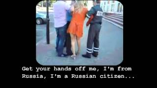 Drunk Russians fight with Belarus police