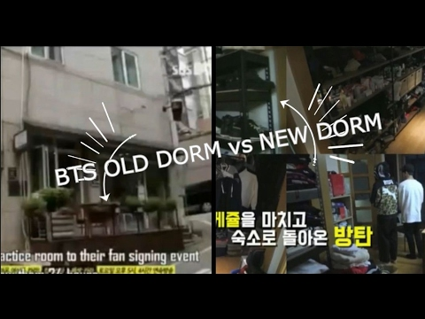 BTS DORM BEFORE AND AFTER