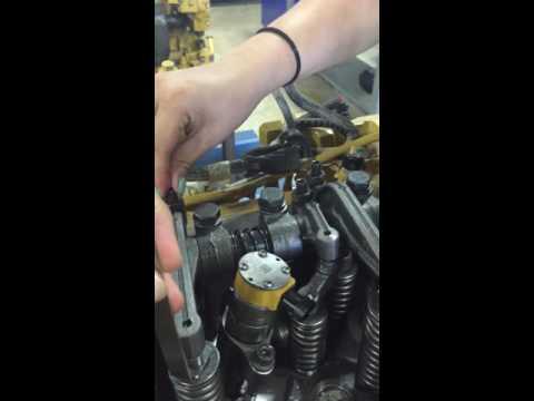 Caterpillar 3406e Valve Lash Adjustment