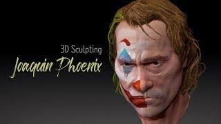 JOKER Joaquin Phoenix 3D Sculpting Time Lapse | PCS