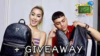 Whats in my backpack / School shopping + Giveaway