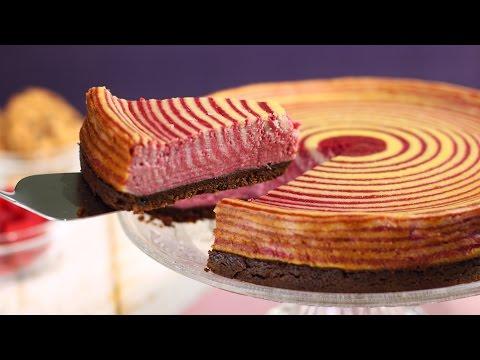 Pour un dessert délicieusement beau : tarte zébrée aux framboises