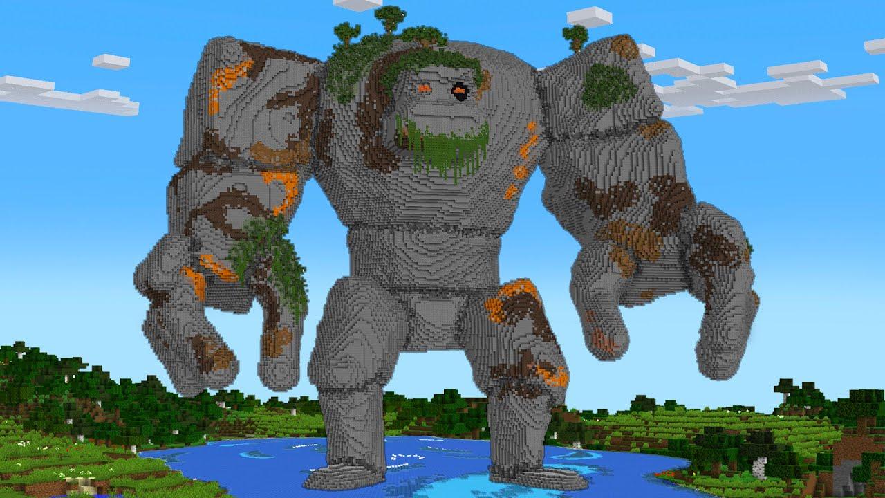 Minecraft Golem Statue House Build in Minecraft Animation
