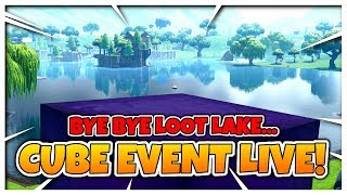 CUBE EVENT LIVE!! // LOOT LAKE TO BE DESTROYED!! // FORTNITE: Battle Royale Livestream