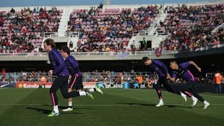 fc barcelona open doors training session full video