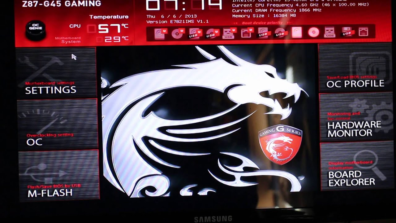 Driver: MSI Z87-G45 Gaming Intel Extreme Tuning