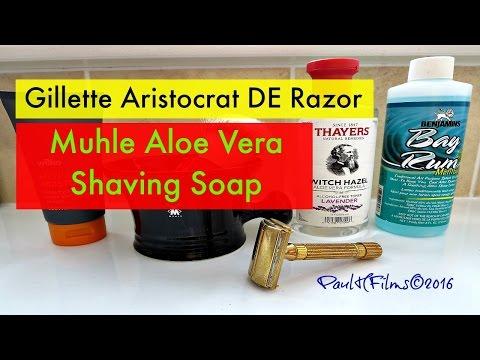 Gillette Aristocrat 1940's Razor -  Muhle Aloe Vera Shaving soap