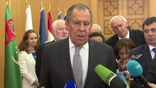 Пресс-подход С.Лаврова по итогам заседания СМИД СНГ, Ашхабад, 10 октября 2019 года