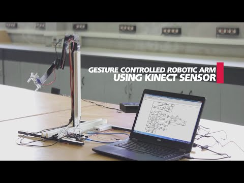 Gesture Controlled Robotic Arm Using Kinect Matlab Simulink & Arduino #MATLABHW2k16