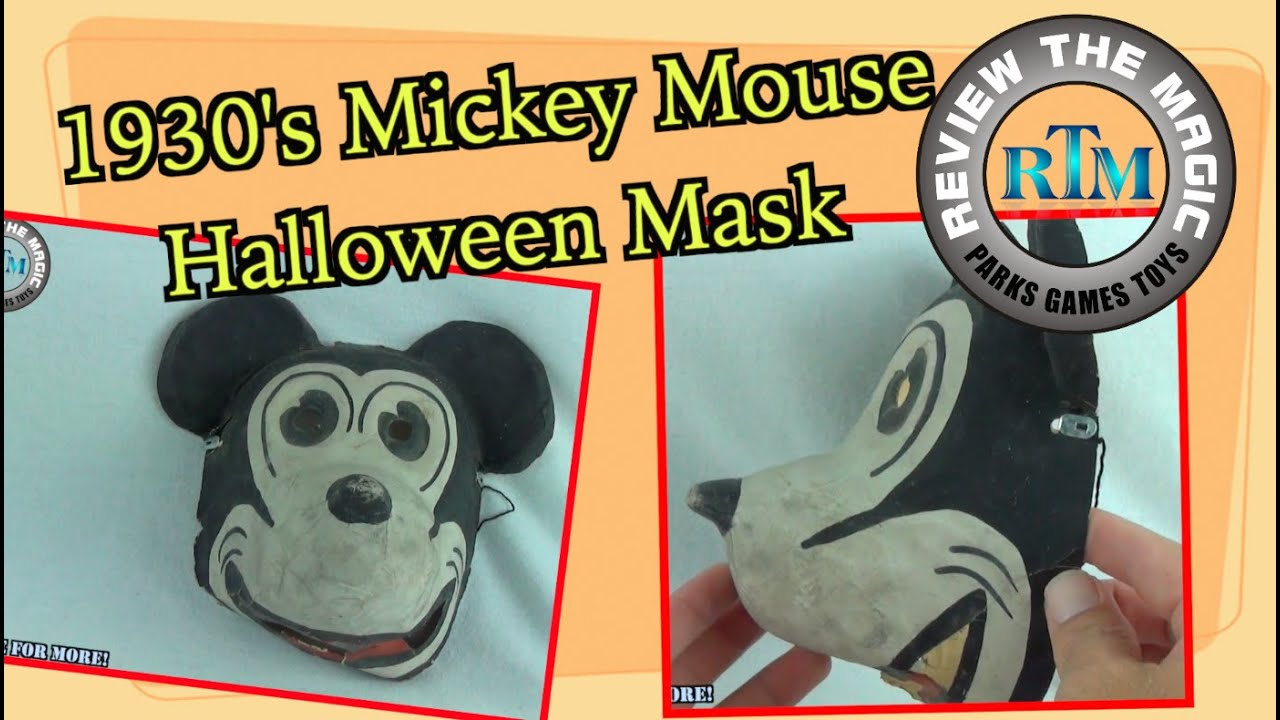 RARE 1930u0027s Disney Mickey Mouse Halloween Costume Mask... Do you think this is Creepy???  sc 1 st  YouTube & RARE 1930u0027s Disney Mickey Mouse Halloween Costume Mask... Do you ...