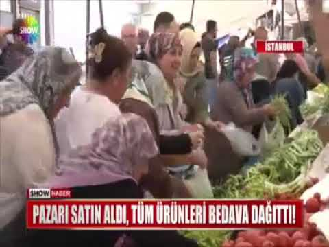 Türkiyədə İş adamı bazarı satın alıb bütün məhsulları pulsuz payladı – Video