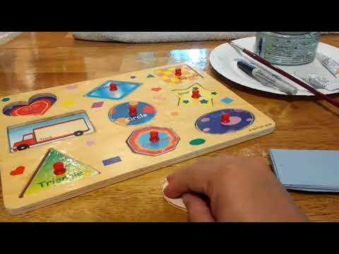 DiY Re-purpose a wooden puzzle.