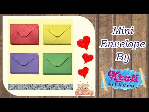 How to Make Mini Envelope   DIY Mini Envelope