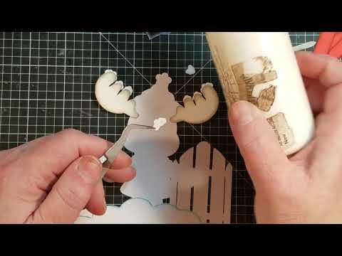 Moose with Sled Paper Piece Tutorial