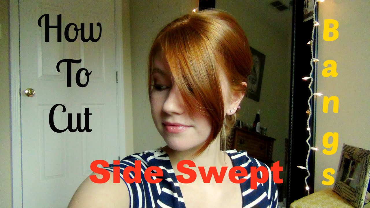 How To Cut Your Own Side Swept Bangs Youtube