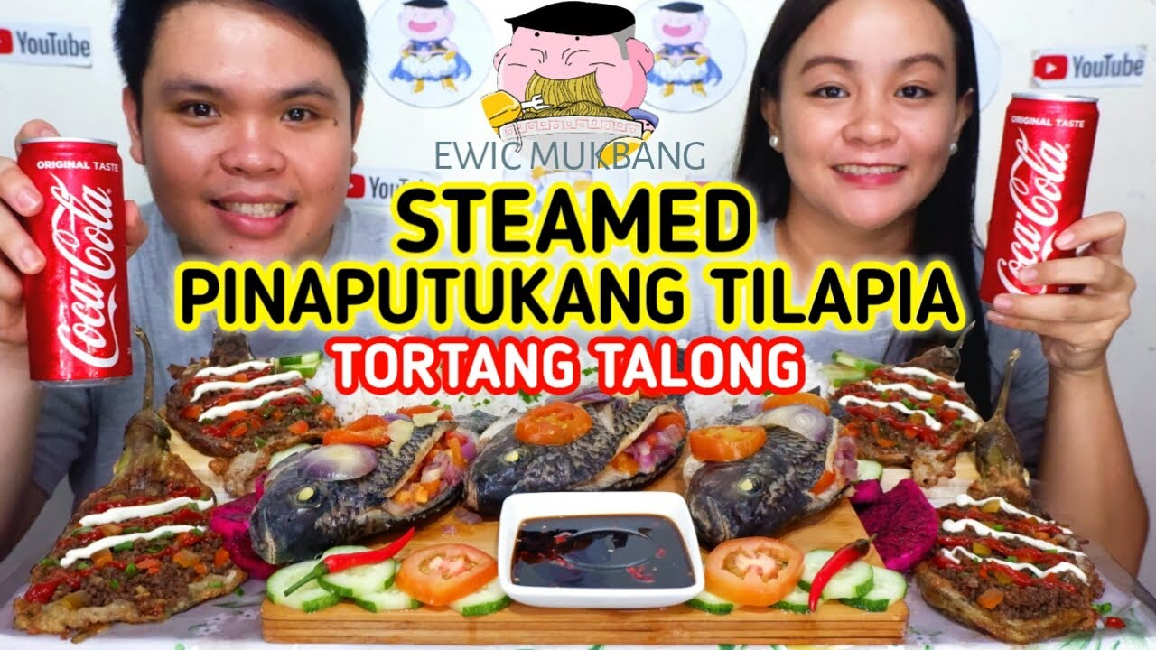 Steamed Pinaputukang Tilapia With Tortang Talong Mukbang/ Filipino Food Mukbang/ Mukbang Philippines