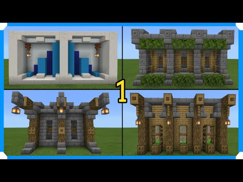 10 Minecraft Wall Designs In 100 Seconds [Minecraft Bedrock Edition] [MCPE]